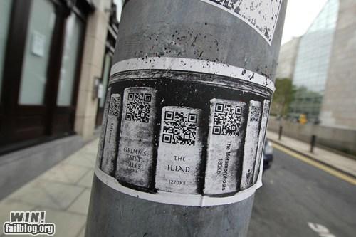 books,Dublin,hacked irl,library,QR code