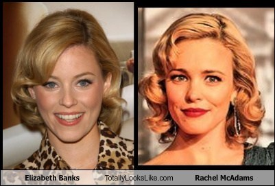 Elizabeth Banks Totally Looks Like Rachel McAdams