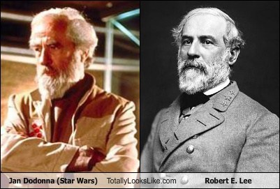 Actor Alex McCrindle (Jan Dodonna, Star Wars) Totally Looks Like Robert E. Lee