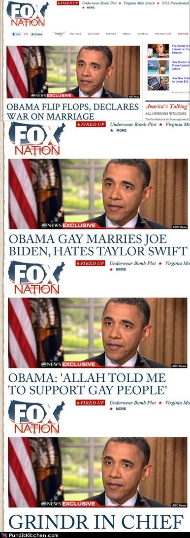 barack obama,fox news,gay marriage,Media,political pictures