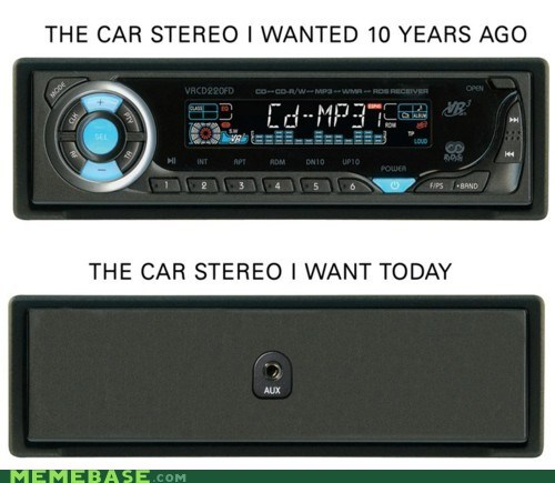 CD,features,headphone jack,Memes,stereo