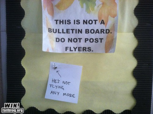 Not a Bulletin Board WIN