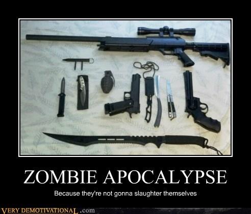 apocalypse,guns,hilarious,knives,zombie