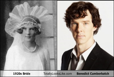 1920s Bride Totally Looks Like Benedict Cumberbatch