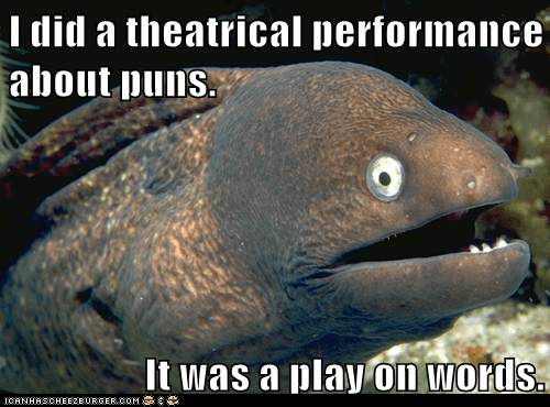 Animal Memes: Bad Joke Eel - Shakes Spear