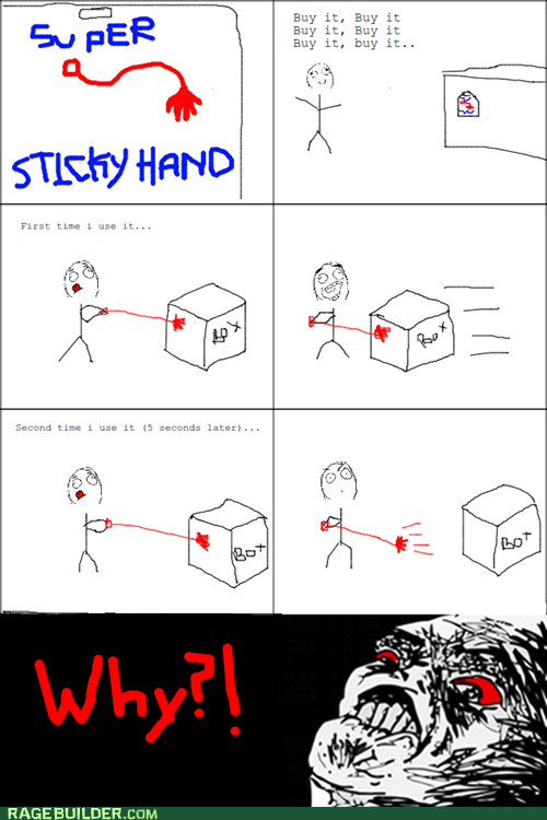 Rage Comics: So Much for Super Sticky