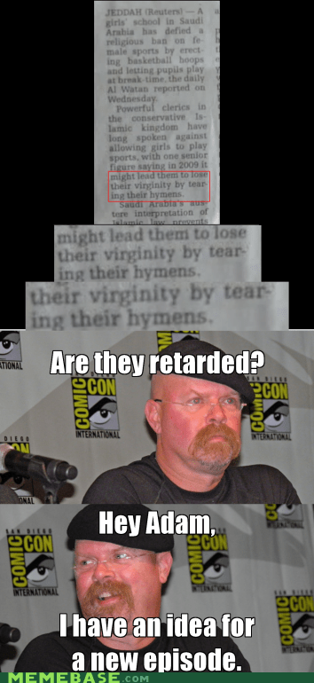 hymen,mythbusters,Rage Comics,virginity