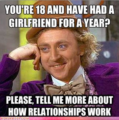 Condescending Wonka on Bieber Giving Relationship Advice