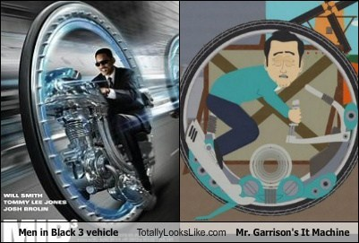 Men in Black 3 Vehicle Totally Looks Like Mr. Garrison's It Machine