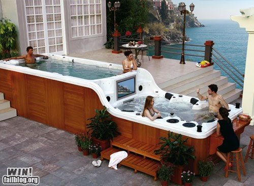 WIN!: Totally Superfluous Hot Tub WIN