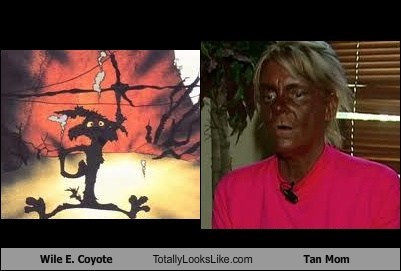 Wile E. Coyote Totally Looks Like Patricia Krentcil (Tan Mom)
