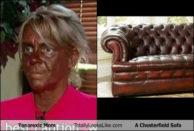 Tanorexic Mom Totally Looks Like A Chesterfield Sofa