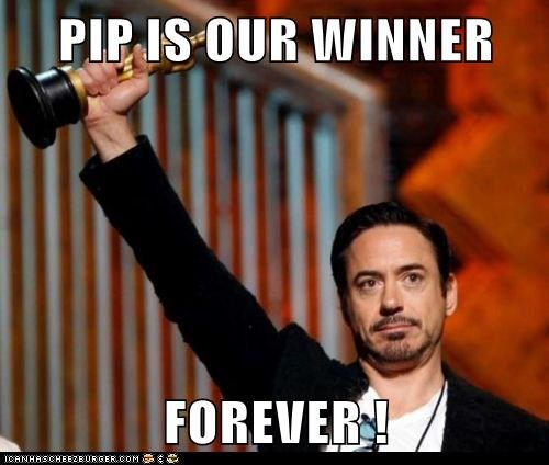 PIP IS OUR WINNER  FOREVER !