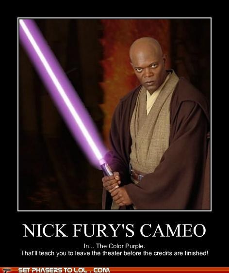 Nick Fury's Cameo in the Color