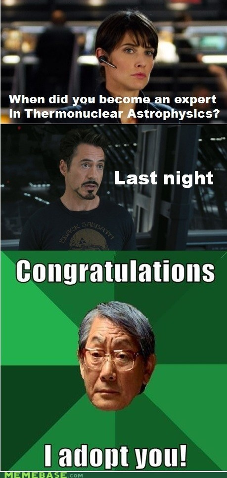 adoption,astrophysics,high expectations asian dad,iron man,superheroes