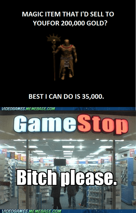 gamestop,IRL,magic item,ten cents,trade in