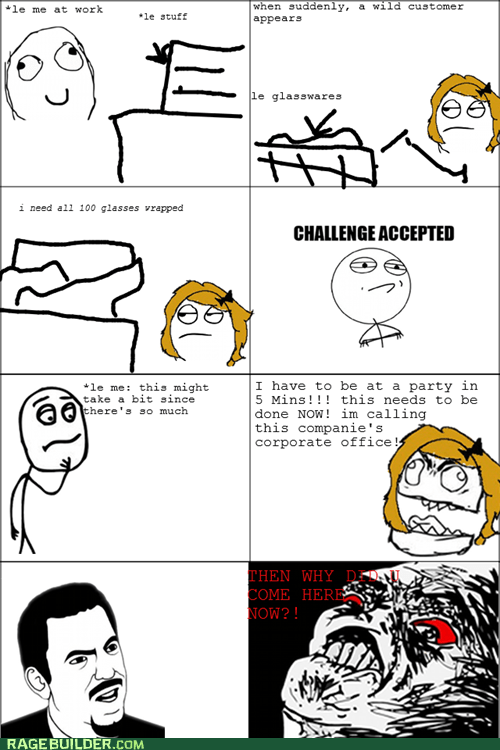 Rage Comics: The Customer is Rarely Right