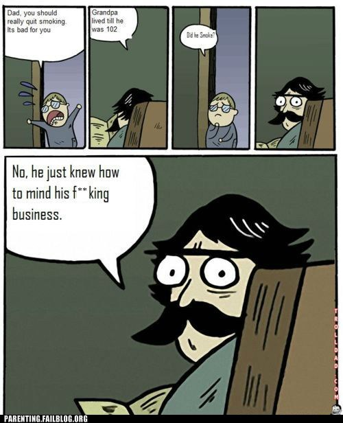 comic,dad,Grandpa,smoking