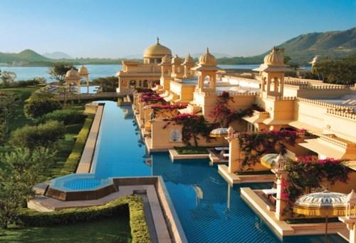 architecture,india,pool,sunrise