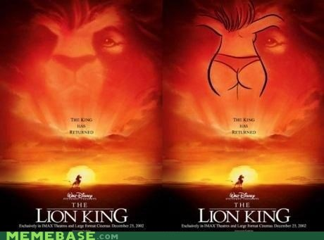 butt,cannot unsee,disney,lion king,mufasa