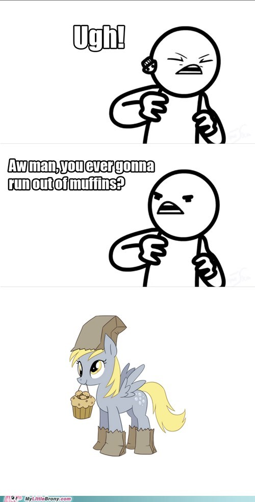 Derpy owns a muffin factory