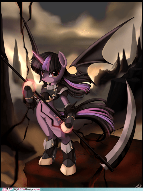 Twilight as a reaper/hoofboot wearer/vampire thing.