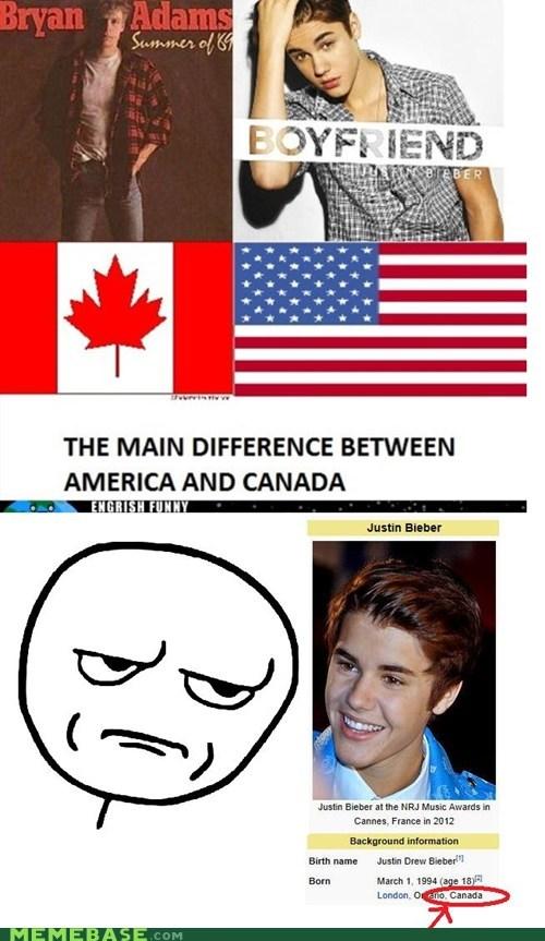 america,Canada,justin bieber,Memes