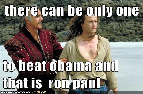 there can be only one    to beat obama and that is  ron paul