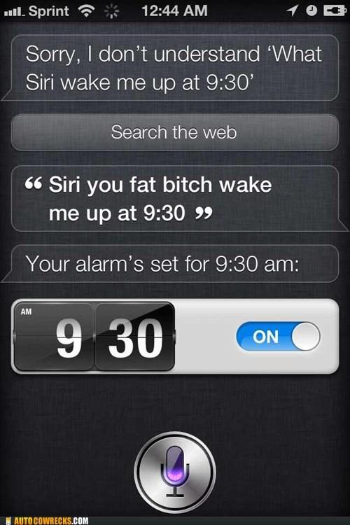 set an alarm,siri,verbal abuse,you-hear-me-know