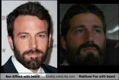 Ben Affleck With Beard Totally Looks Like Matthew Fox With Beard