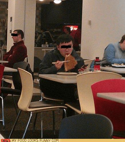 candid,chopsticks,pizza,restaurant,weird