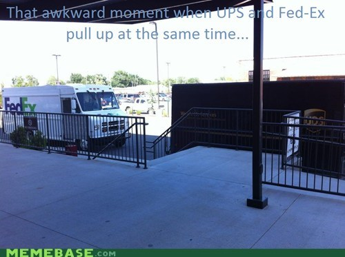 Awkward UPS vs. Fed-Ex