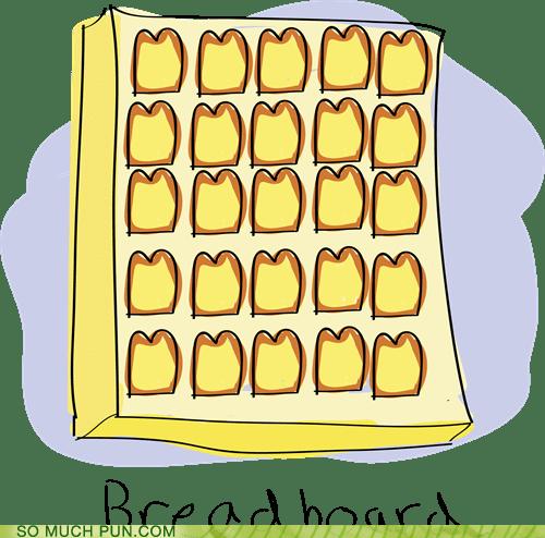 board,bread,breadboard,computers,double meaning,literalism