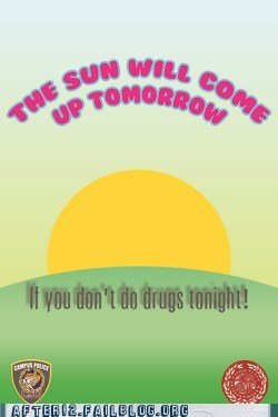 campus police,cops,dont-do-drugs,police,psa,sun