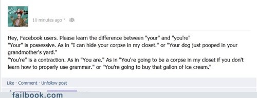 death threats,grammar,threats,your,youre