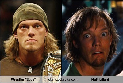 "Wrestler ""Edge"" Totally Looks Like Matthew Lillard"