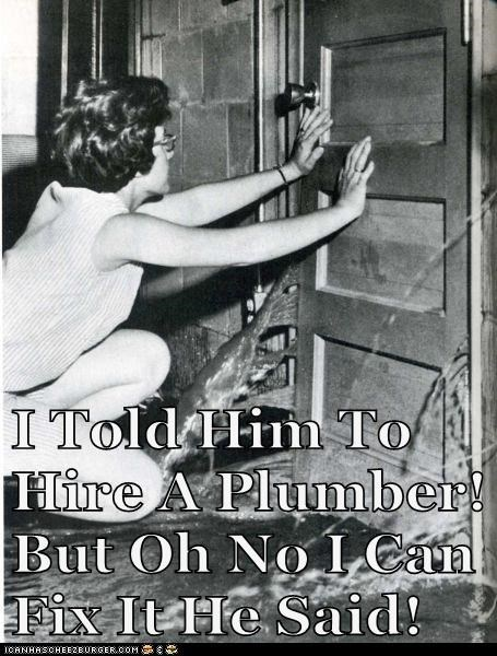 Never Trust a Husband to Fix Anything