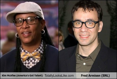 Kim McAfee (America's Got Talent) Totally Looks Like Fred Armisen (SNL)