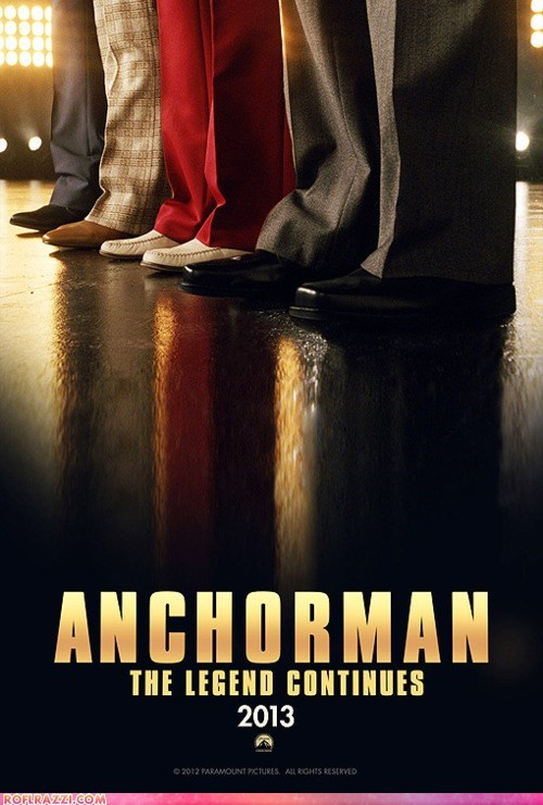 "Teaser Poster For The New ""Anchorman"" Film"