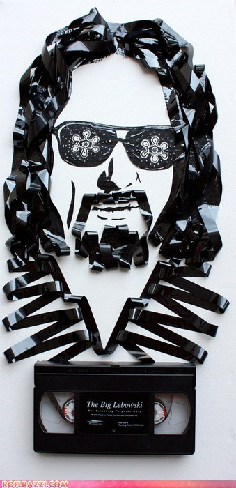 "The Dude Illustrated With a VHS Tape of ""The Big Lebowski"""