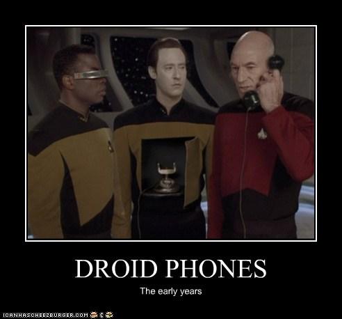 android,brent spiner,Captain Picard,data,early years,Geordi Laforge,levar burton,patrick stewart,phones,Star Trek