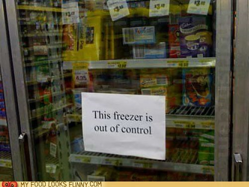 case,freezer,sign,silly,store