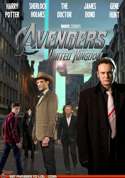 avengers,awesome,best of the week,Daniel Craig,Daniel Radcliffe,doctor who,gene hunt,harry,Harry Potter,james bond,mashup,Matt Smith,poster,the doctor