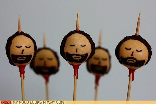 beheaded,Blood,cake pops,Game of Thrones,gross,head,ned stark,pike