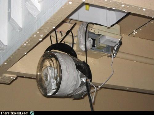 coffee pot,duct tape,webcam,zip ties