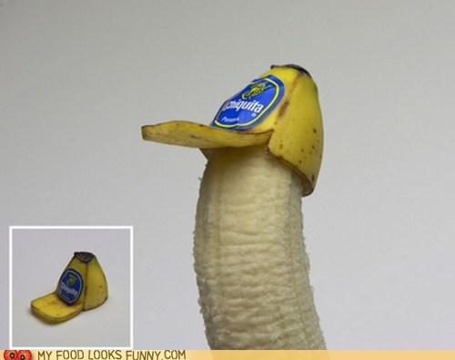 banana,hat,peel,sticker,trucker hat