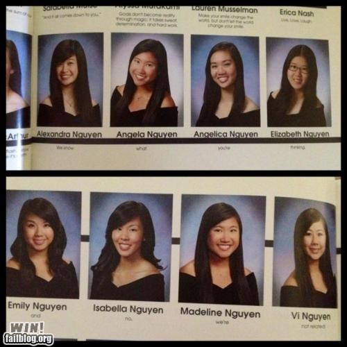 coincidence,nguyen,quote,school,yearbook