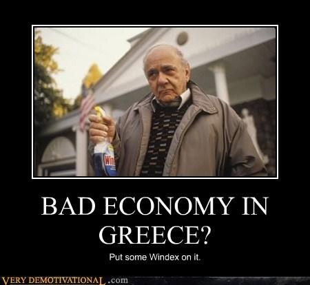 economy,greece,hilarious,windex