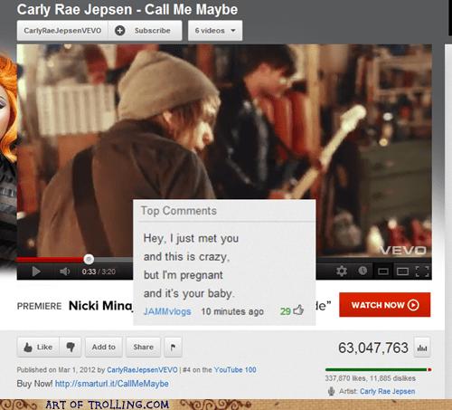 call me maybe,carly rae jespen,pregnancy,youtube