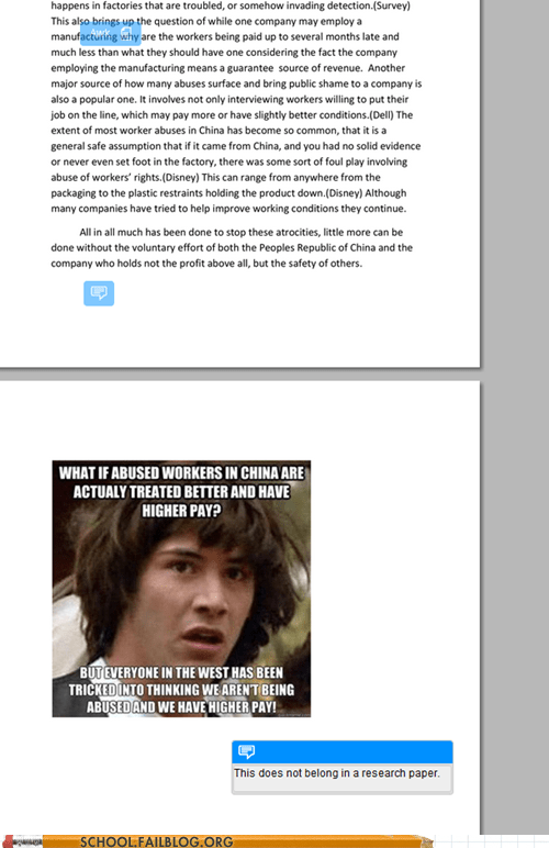 I Guess Your Professor Doesn't Appreciate Some Conspiracy Keanu
